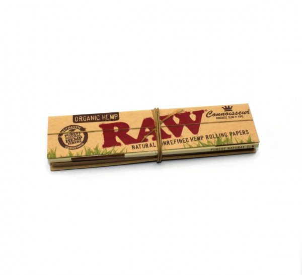 RAW Blättchen Connoisseur Hemp Organic King Size Slim + Filtertips