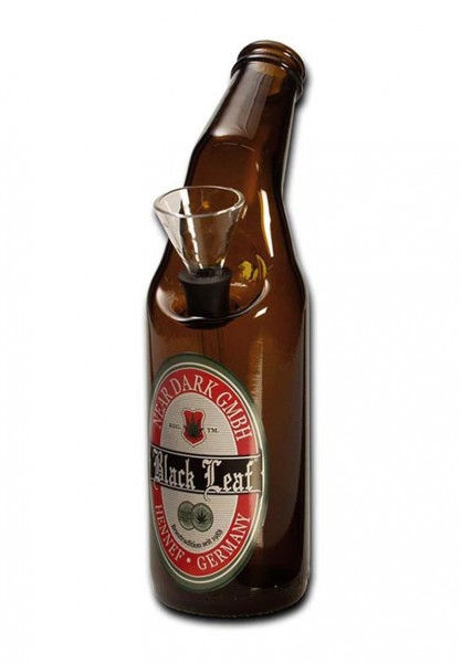 Black Leaf Bier Glasbong 20cm