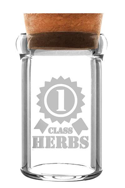 Glasbehälter Weedjar 1 Class Herbes