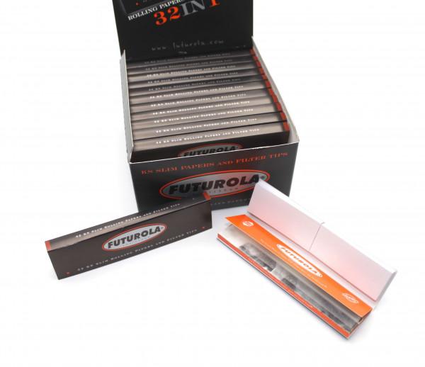 Futurola Blättchen 32in1 King Size Slim mit Filter Tips