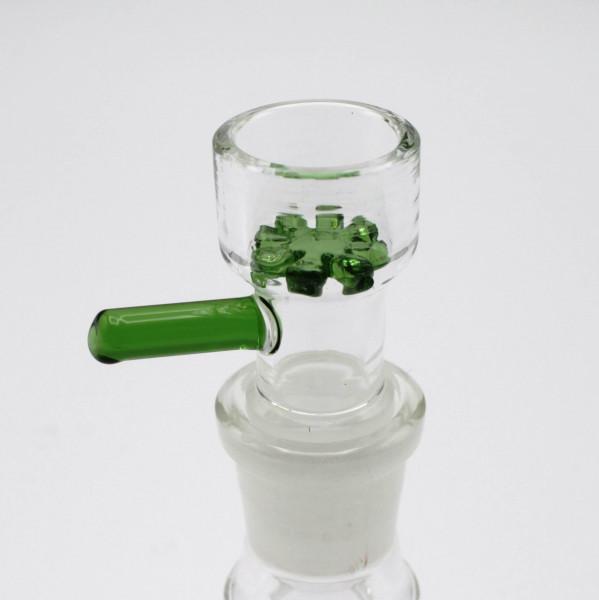 Smokerama Glaskopf mit Glassieb 18,8 Grün