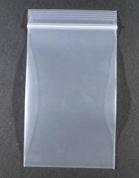 Druckverschlussbeutel 100x160mm Klar 1 Stück 90µ