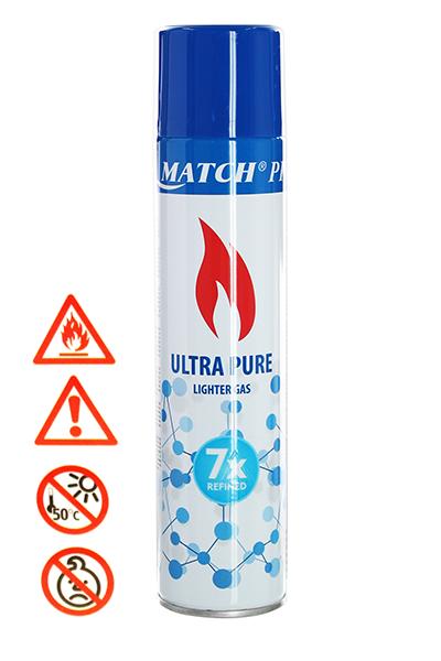 Silver Match Premium Feuerzeug Gas 300ml Ultra Pure 7x raffiniert
