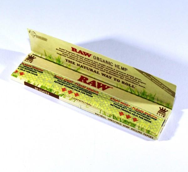 RAW Blättchen Organic Hemp KS Slim 1 Heftchen