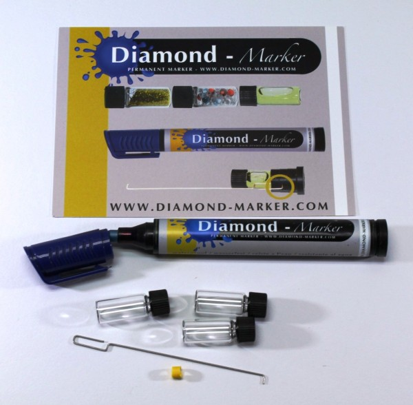 Diamond Marker Filzstift Versteckfach Blau