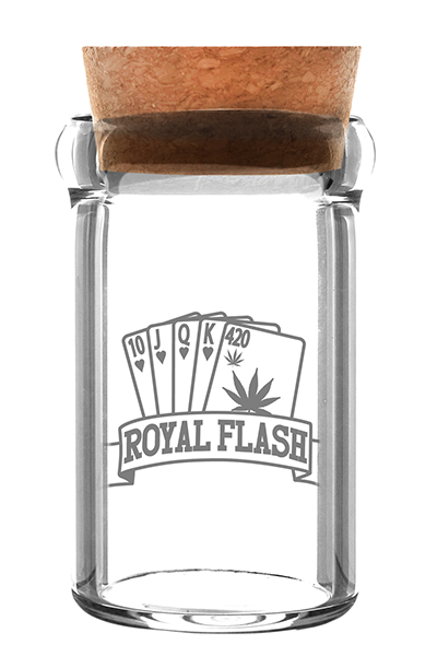 Glasbehälter Weedjar Royal Flash