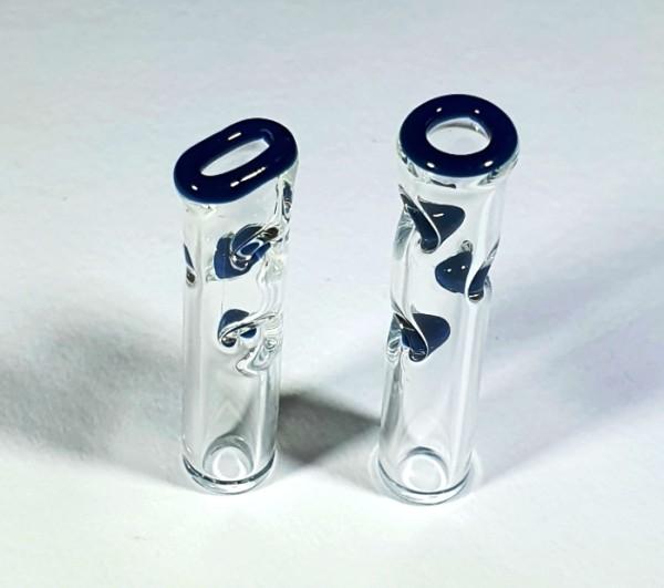 Glas Filtertips Blueberry 8mm im 2er Set