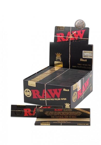 RAW Black Blättchen King Size Slim Extra Fein 32 Blatt
