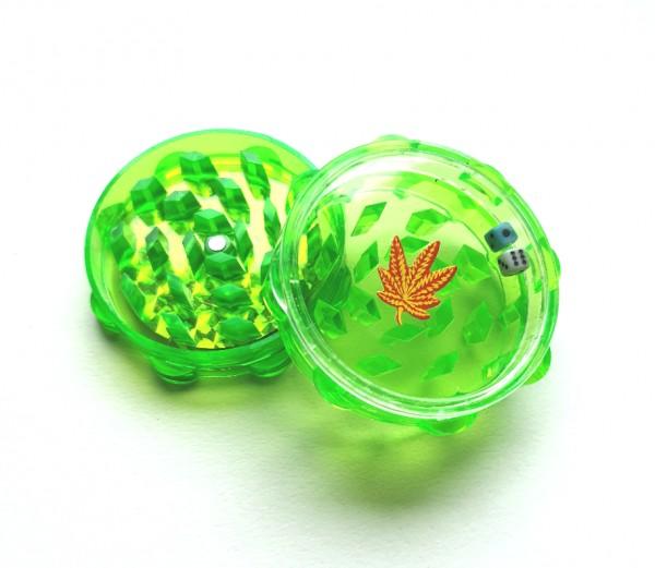 Acryl Grinder 2 Teilig mit Würfelspiel Grün