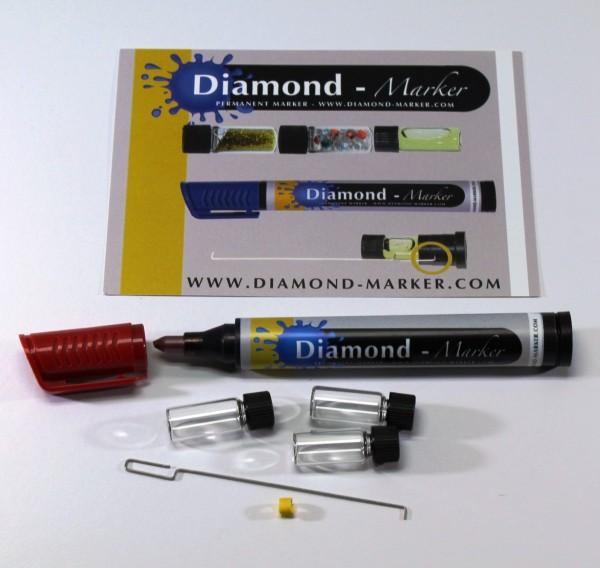 Diamond Marker Filzstift Versteckfach Rot