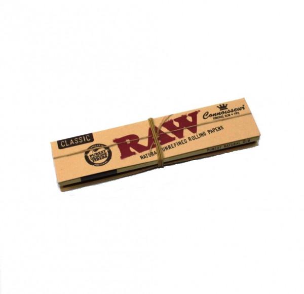 RAW Connoisseur Blättchen mit Filtertips 1 Heftchen