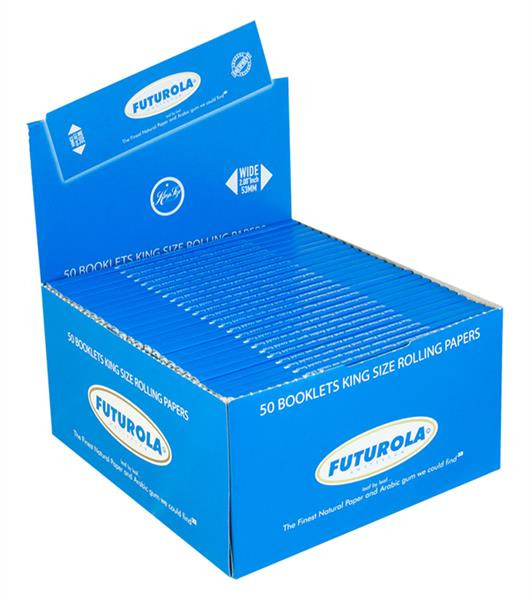 FUTUROLA Blättchen King Size Blau 50er Big Box