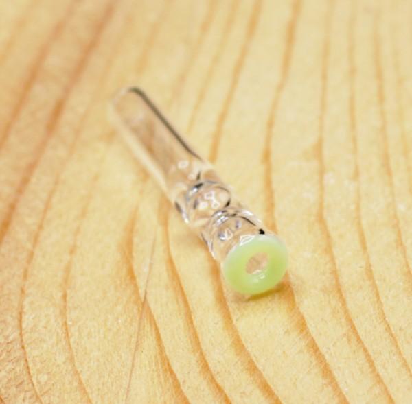 Smokerama Glas Filtertip 6mm Jade rundes Mundstück