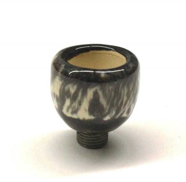 Pfeifenkopf aus Ton Dunkel