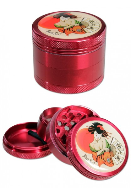 Black Leaf Grinder Geisha 4 Teilig Rot