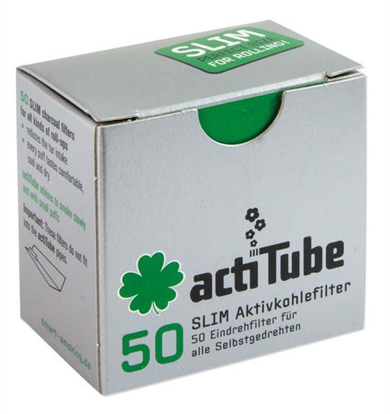 actiTube Aktivkohlefilter Slim 50 Stück