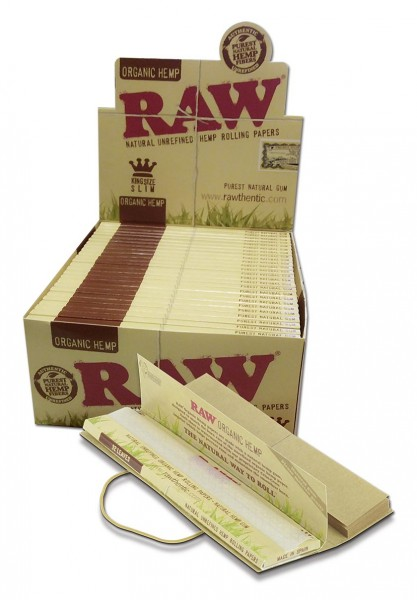 RAW Blättchen Connoisseur Hemp Organic King Size Slim + Filtertips