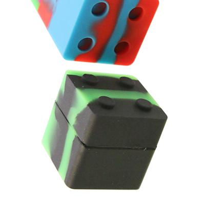 Silikon Container LegoWürfel Grün Schwarz
