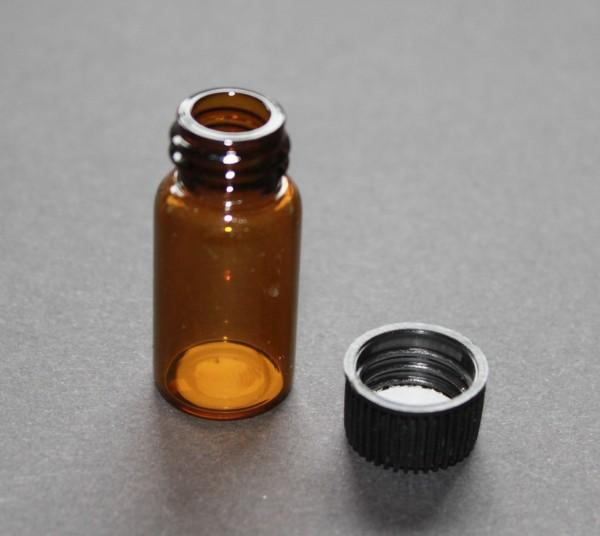 Fläschchen Braun 38mm mit Schraubdeckel