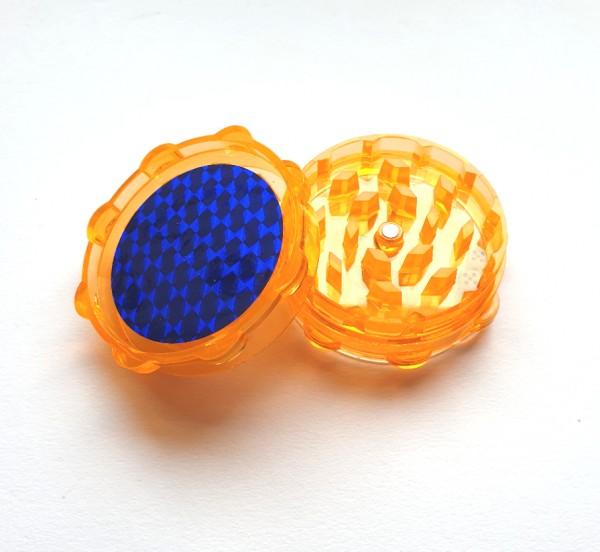 Acryl Grinder 2 Teilig mit Würfelspiel Orange