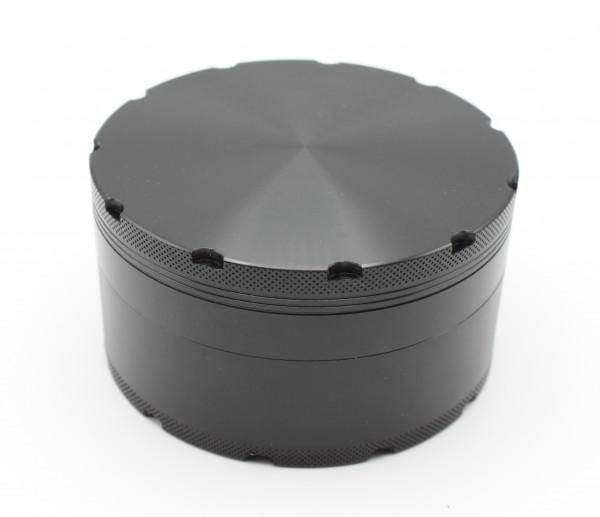 Smokerama Grinder XL 100 Aluminium 4 Teilig Schwarz