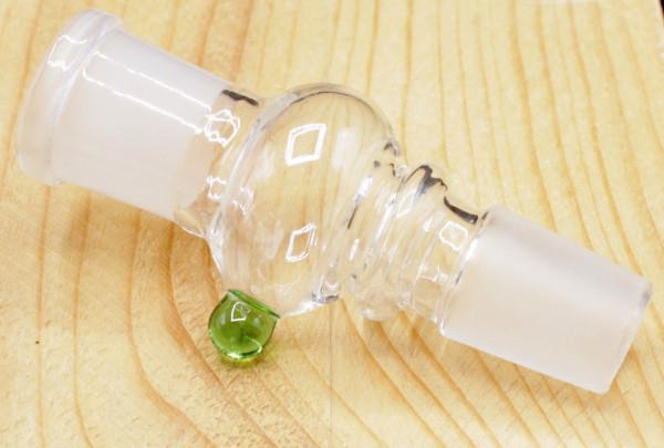 Glas Pfeifenfilter Adapter für Aktivkohle 18,8 mm Grün